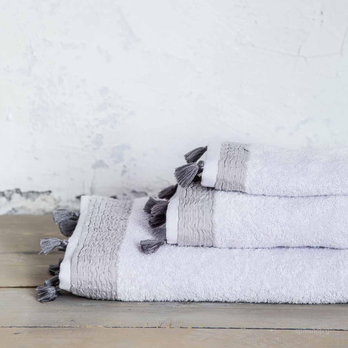 Πετσέτα Χεριών (30x50) Nima Bath Assent Light Grey home   μπάνιο   πετσέτες μπάνιου