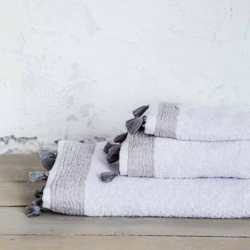 Πετσέτα Προσώπου (50x90) Nima Bath Assent Light Grey