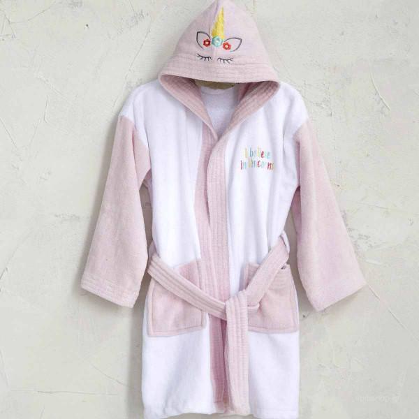 Βρεφικό Μπουρνούζι Nima Baby Unicorn White