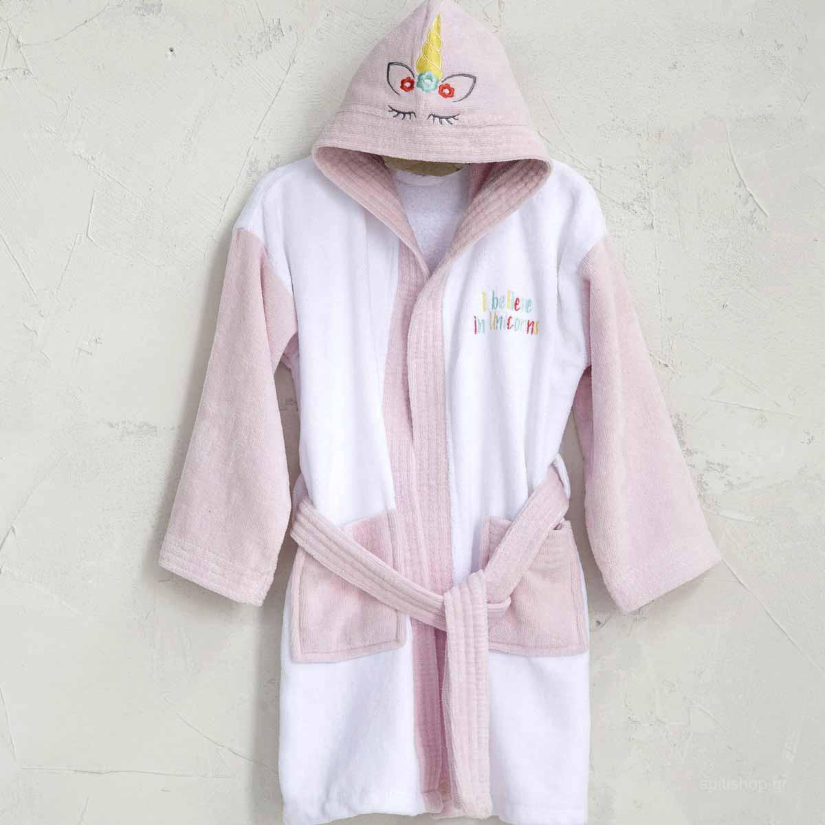 Βρεφικό Μπουρνούζι Nima Baby Unicorn White Νο2 Νο2