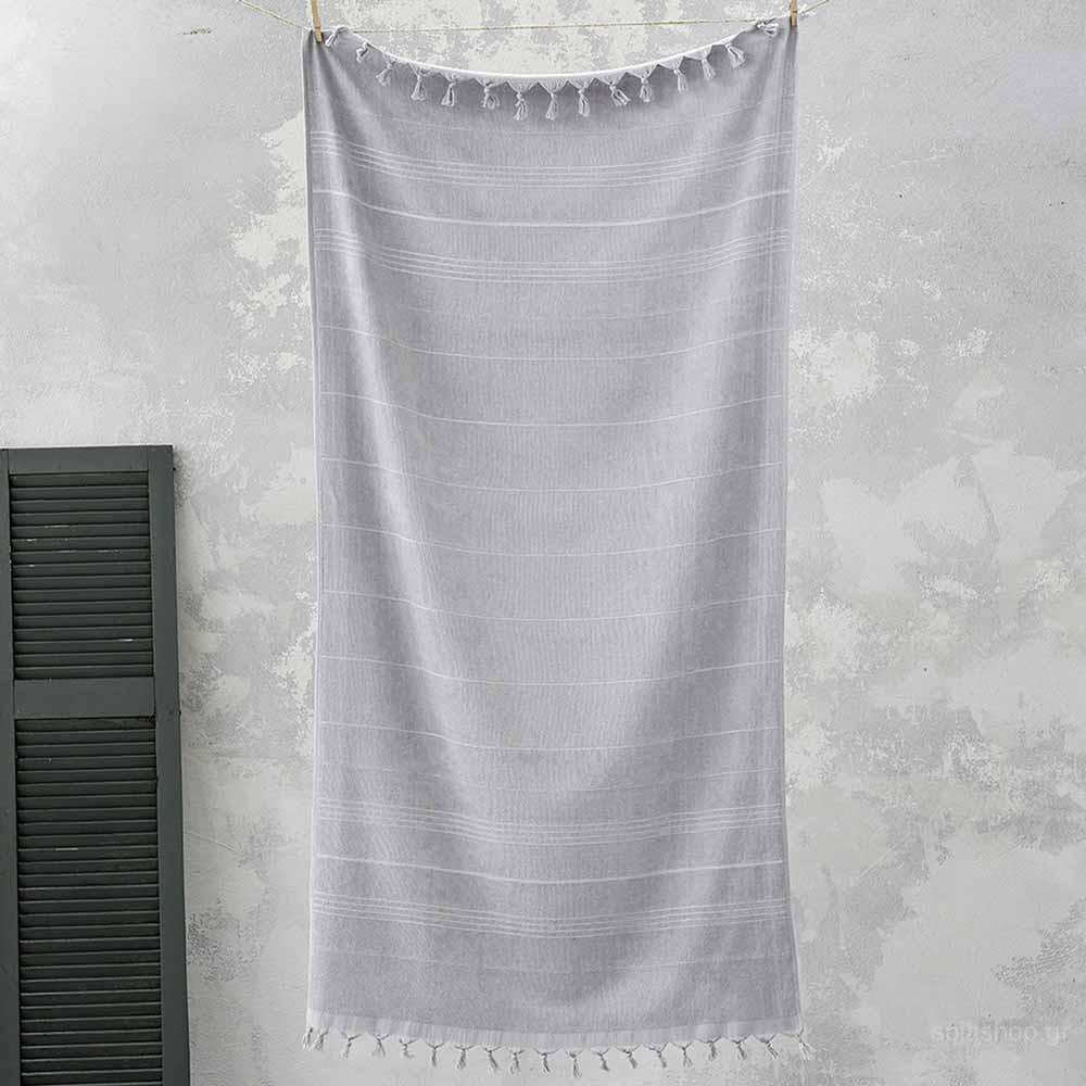 Πετσέτα Θαλάσσης-Παρεό Nima Beach Smooth Grey