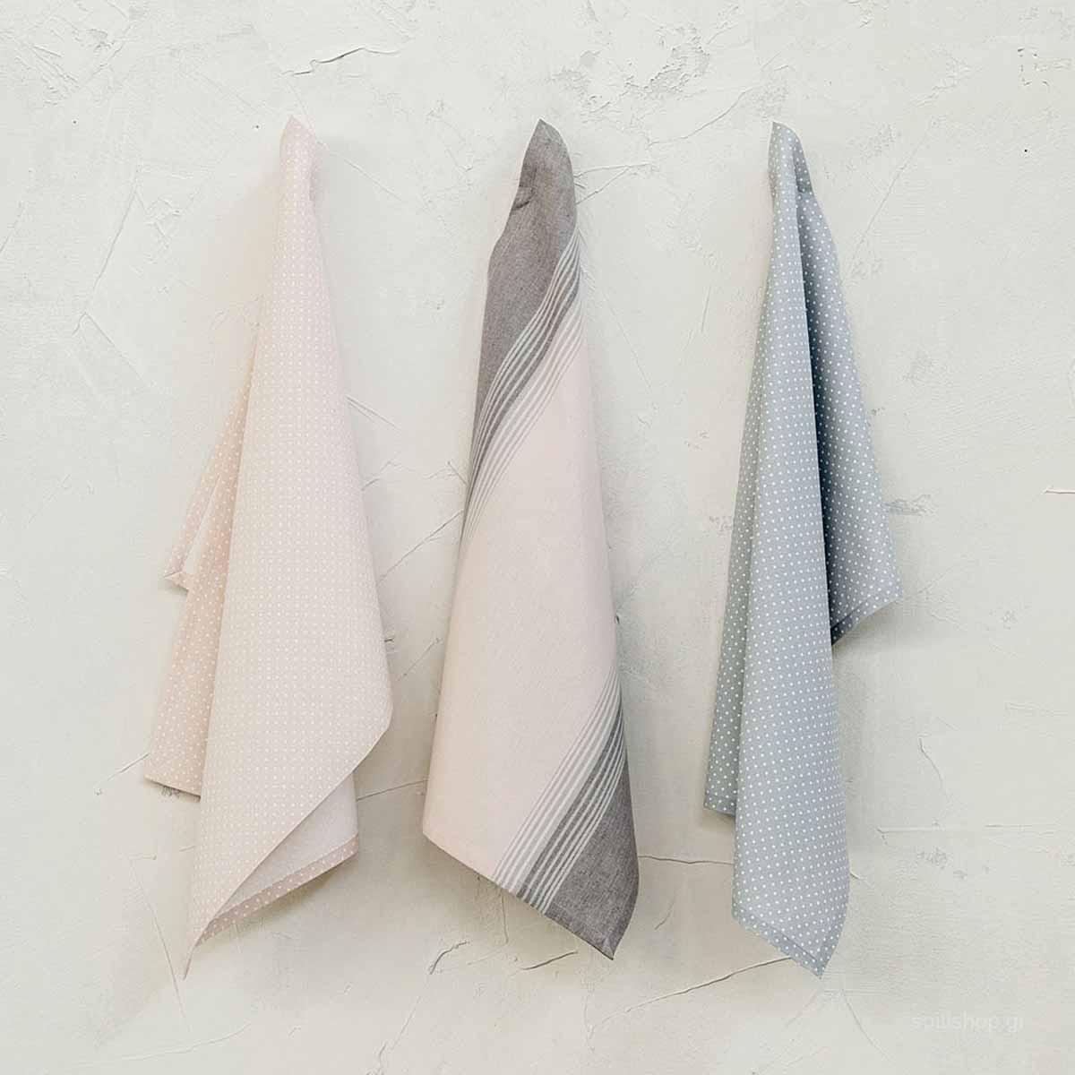 Ποτηρόπανα (Σετ 3τμχ) Nima Kitchen Towels Splash
