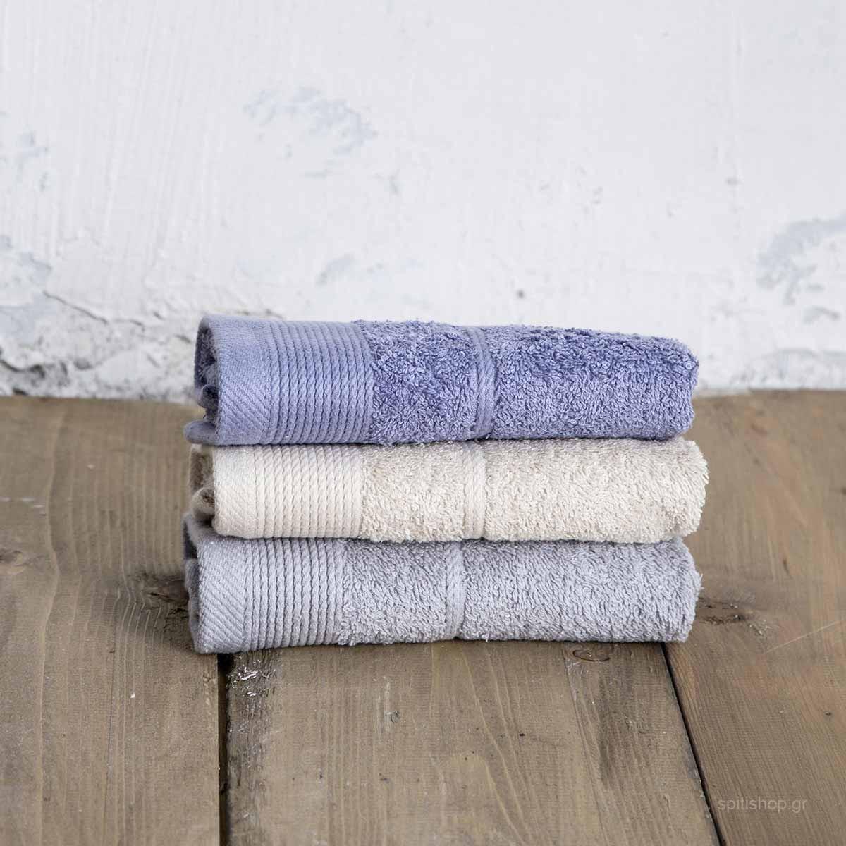 Πετσέτες Χεριών (Σετ 3τμχ) Nima Bath Ritz Drizzle home   μπάνιο   πετσέτες μπάνιου