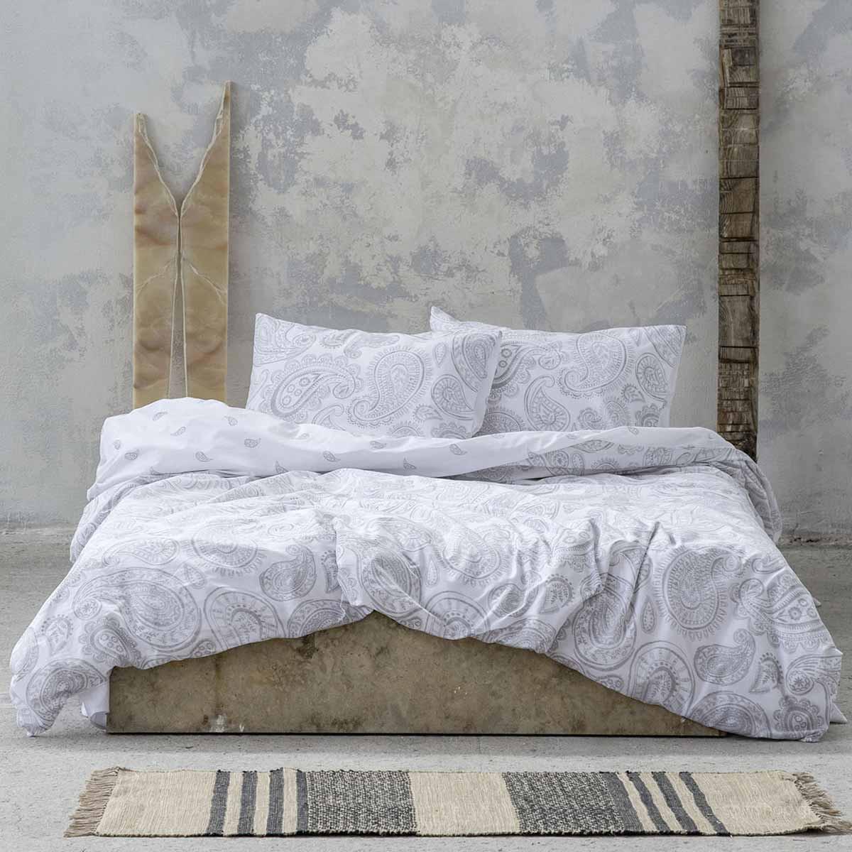 Σεντόνια Μονά (Σετ) Nima Bed Linen Aditti Grey ΧΩΡΙΣ ΛΑΣΤΙΧΟ ΧΩΡΙΣ ΛΑΣΤΙΧΟ