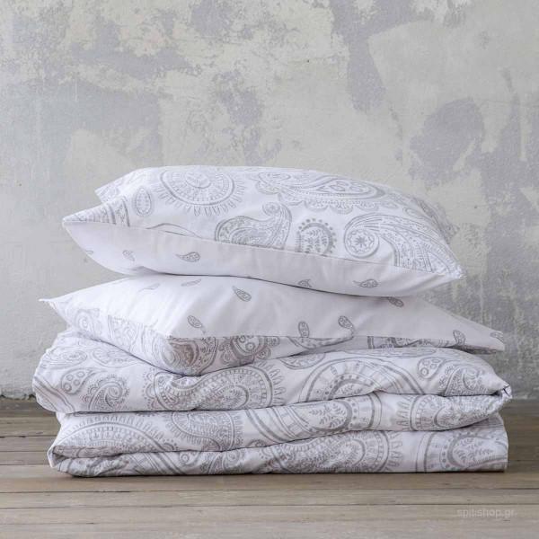 Σεντόνια Μονά (Σετ) Nima Bed Linen Aditti Grey