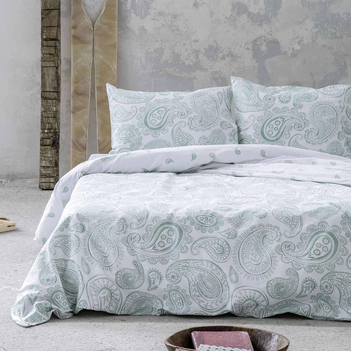 Σεντόνια King Size (Σετ) Nima Bed Linen Aditti Mint