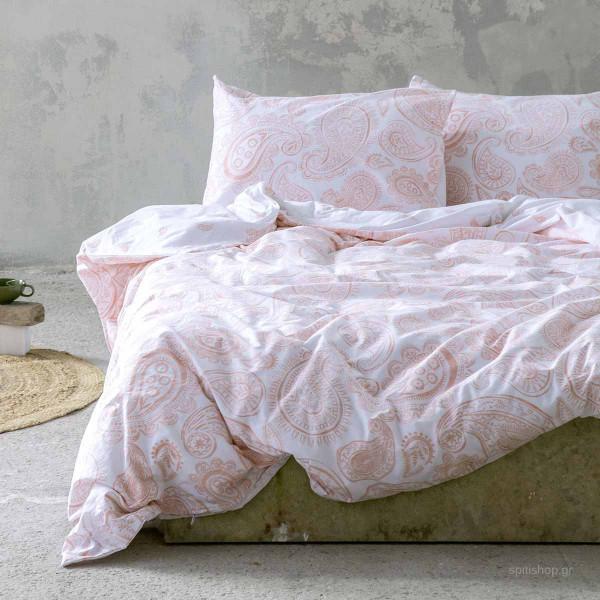 Σεντόνια Μονά (Σετ) Nima Bed Linen Aditti Pink