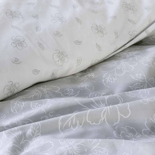 Σεντόνια Μονά (Σετ) Nima Bed Linen Defile Grey