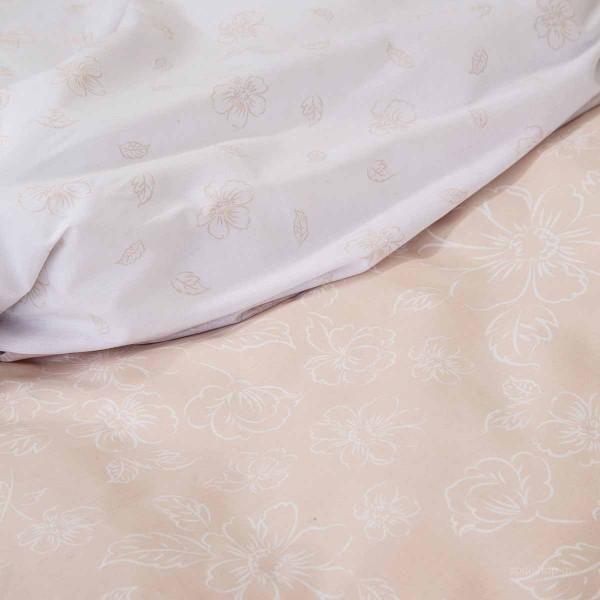 Σεντόνια Υπέρδιπλα (Σετ) Nima Bed Linen Defile Salmon