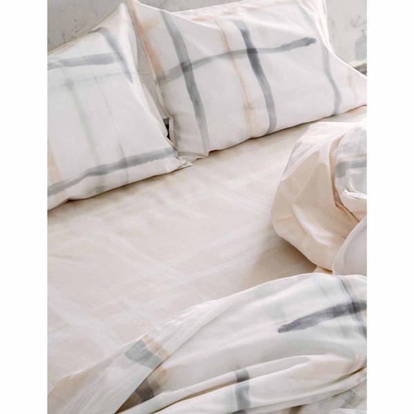 Σεντόνια Υπέρδιπλα (Σετ) Nima Bed Linen La Pintura Salmon