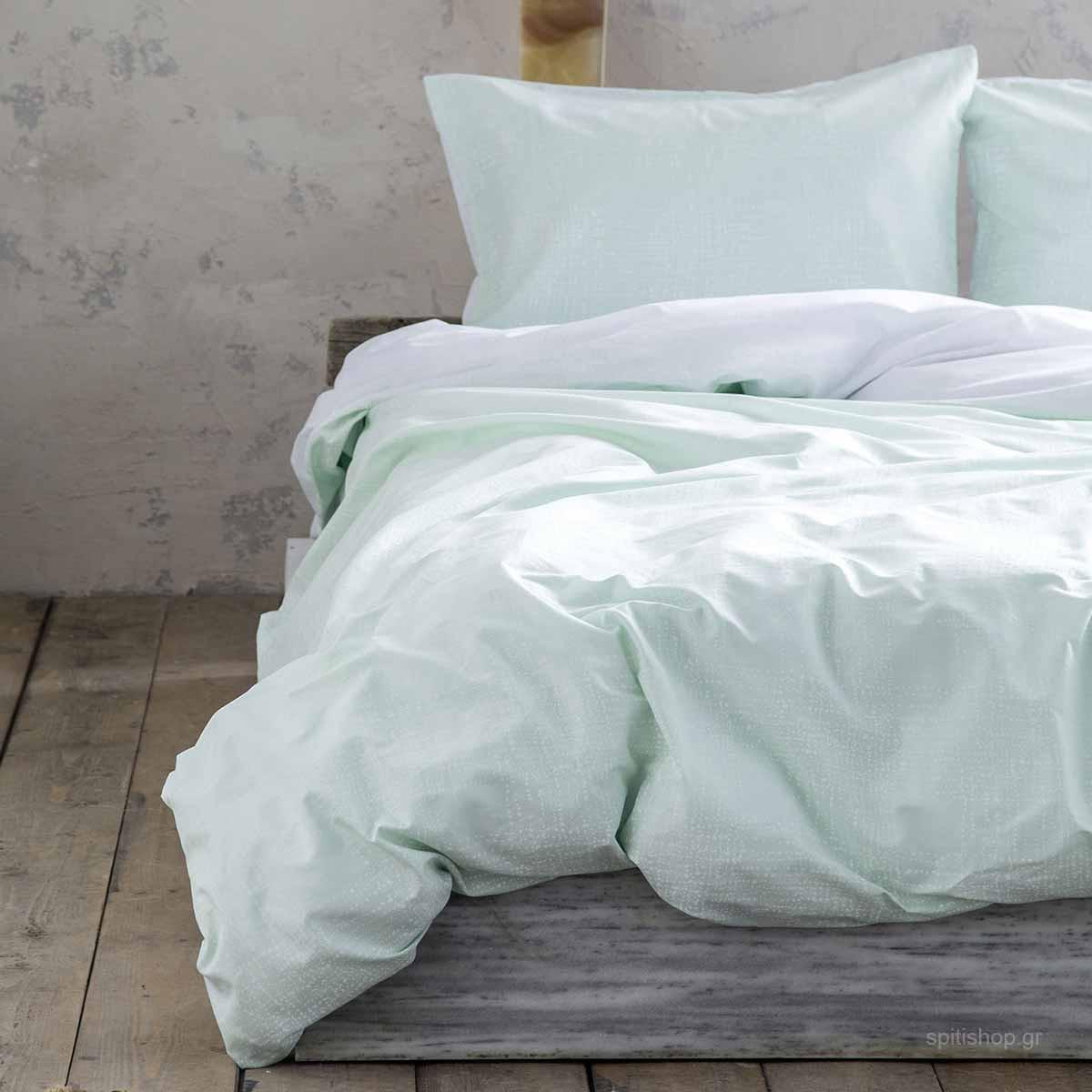 Σεντόνια Υπέρδιπλα (Σετ) Nima Bed Linen Loom Mint ΧΩΡΙΣ ΛΑΣΤΙΧΟ ΧΩΡΙΣ ΛΑΣΤΙΧΟ