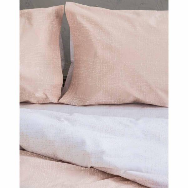 Σεντόνια Υπέρδιπλα (Σετ) Nima Bed Linen Loom Salmon