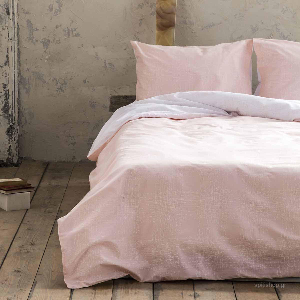 Σεντόνια King Size (Σετ) Nima Bed Linen Loom Salmon