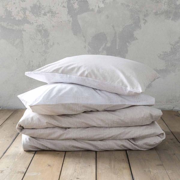 Σεντόνια Υπέρδιπλα (Σετ) Nima Bed Linen Loom Beige