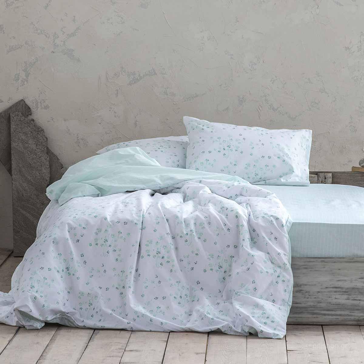 Σεντόνια Υπέρδιπλα (Σετ) Nima Bed Linen Demanda Mint ΜΕ ΛΑΣΤΙΧΟ ΜΕ ΛΑΣΤΙΧΟ