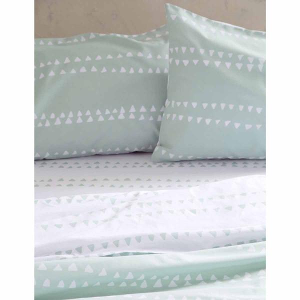 Σεντόνια Υπέρδιπλα (Σετ) Nima Bed Linen Natal Mint