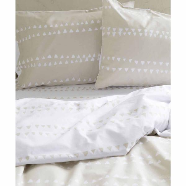 Σεντόνια Υπέρδιπλα (Σετ) Nima Bed Linen Natal Beige