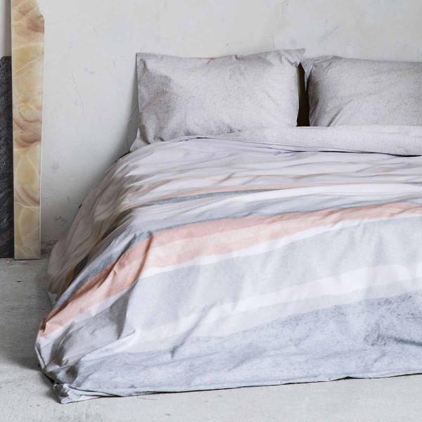 Σεντόνια Μονά (Σετ) Nima Bed Linen Antissamos Grey