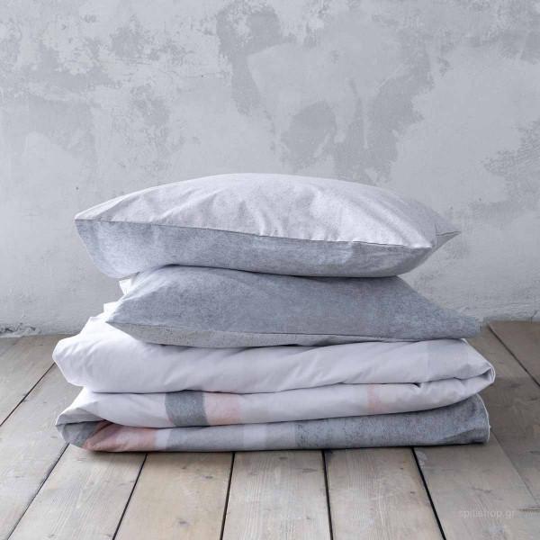 Σεντόνια Υπέρδιπλα (Σετ) Nima Bed Linen Antissamos Grey