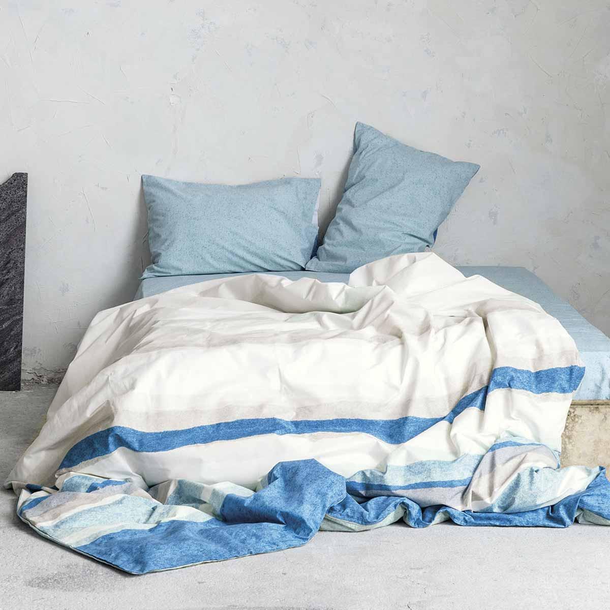 Σεντόνια Υπέρδιπλα (Σετ) Nima Bed Linen Antissamos Mint ΧΩΡΙΣ ΛΑΣΤΙΧΟ ΧΩΡΙΣ ΛΑΣΤΙΧΟ