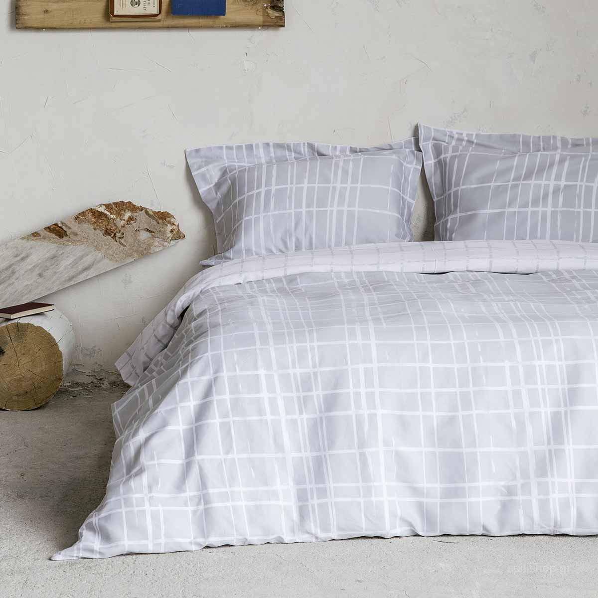 Σεντόνια Διπλά (Σετ) Nima Bed Linen Devious Grey