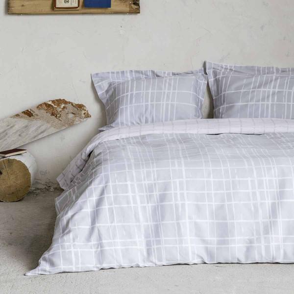 Σεντόνια Υπέρδιπλα (Σετ) Nima Bed Linen Devious Grey