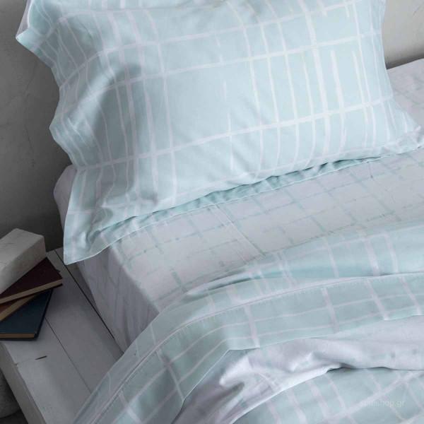 Σεντόνια Μονά (Σετ) Nima Bed Linen Devious Mint