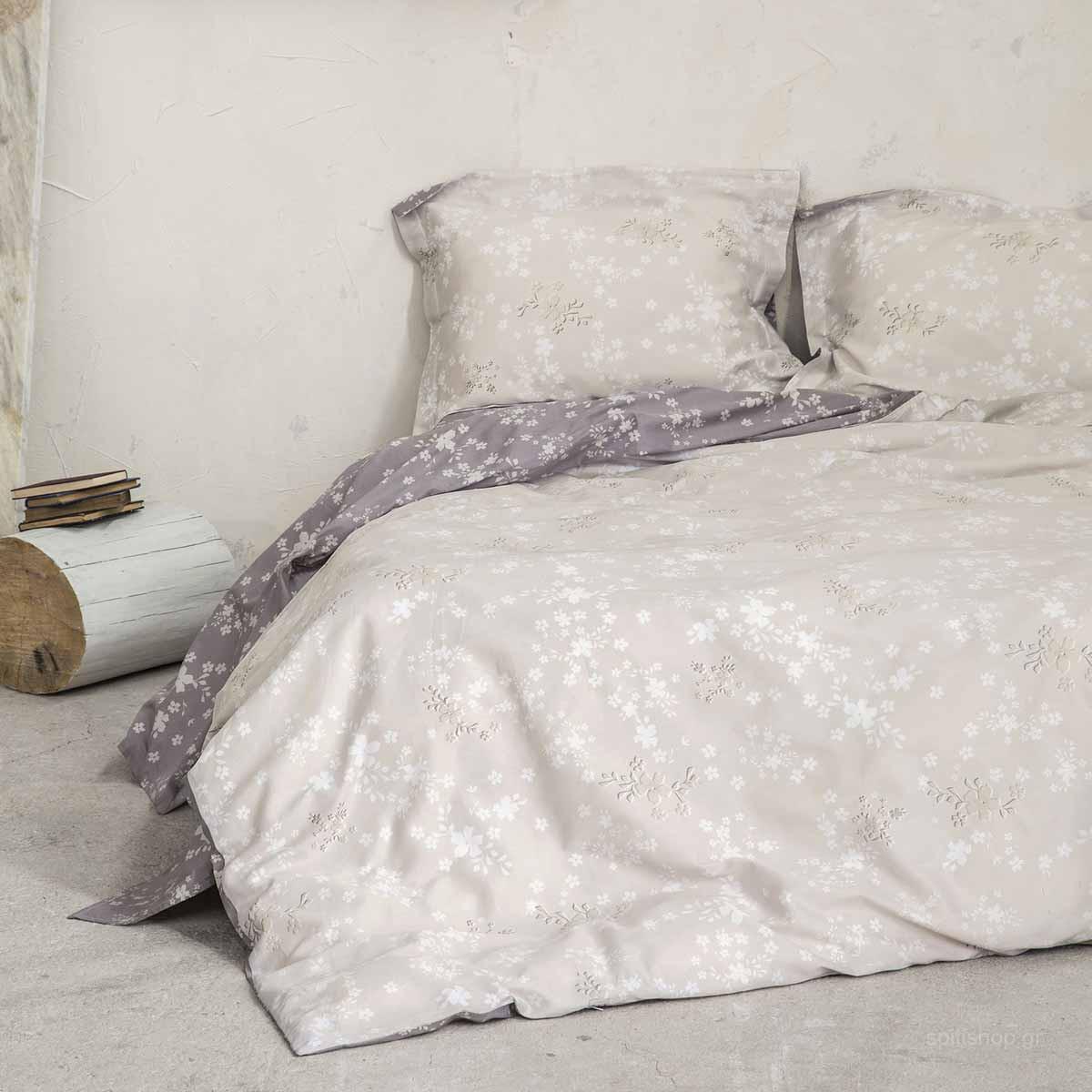 Σεντόνια Υπέρδιπλα (Σετ) Nima Bed Linen Fair Beige
