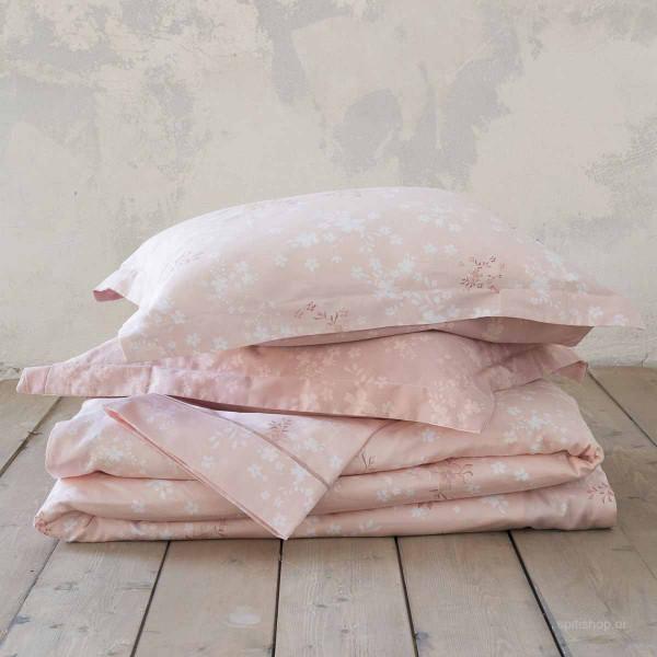 Σεντόνια Υπέρδιπλα (Σετ) Nima Bed Linen Fair Salmon