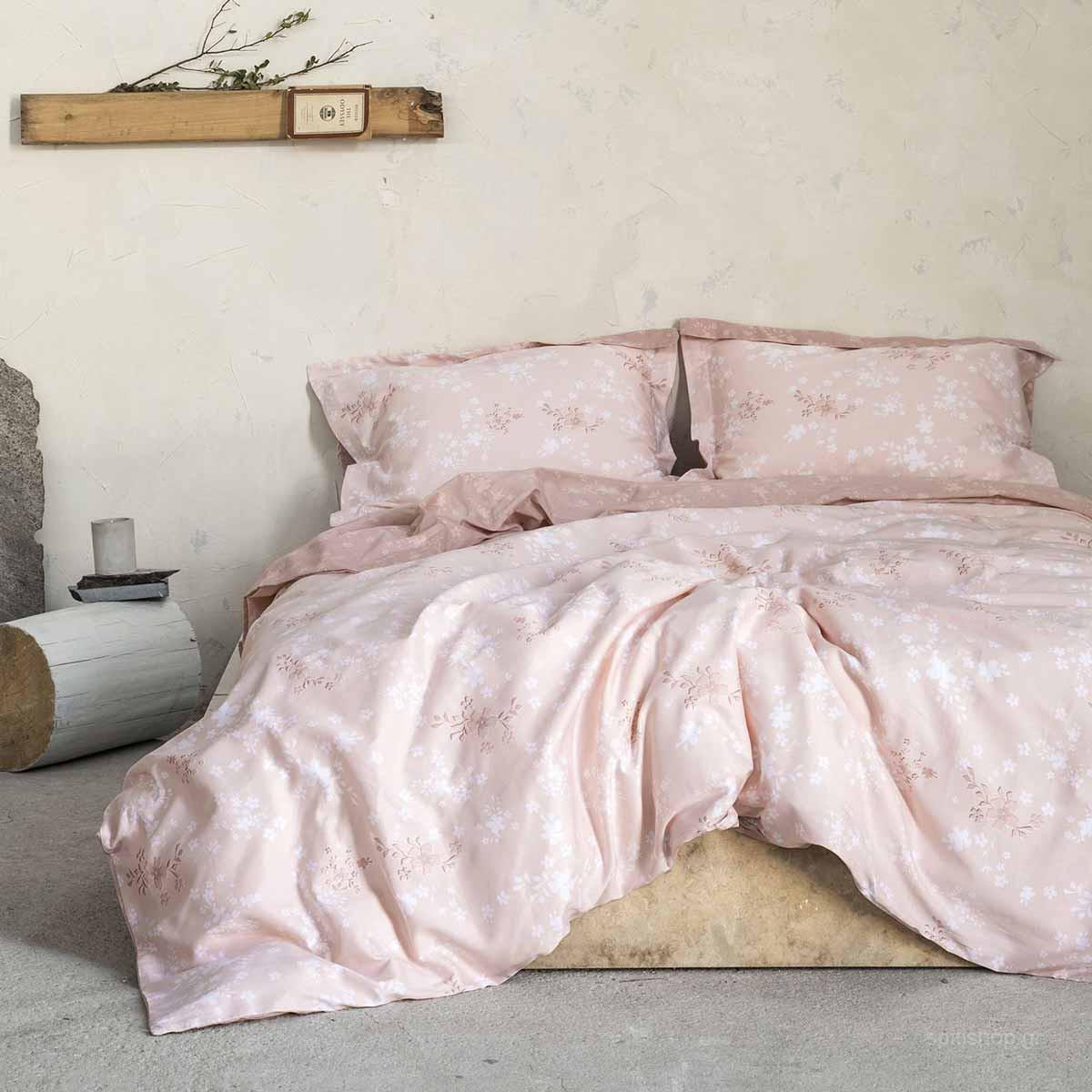 Σεντόνια King Size (Σετ) Nima Bed Linen Fair Salmon