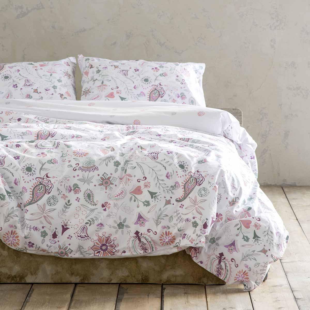 Σεντόνια Υπέρδιπλα (Σετ) Nima Bed Linen Desire Pink