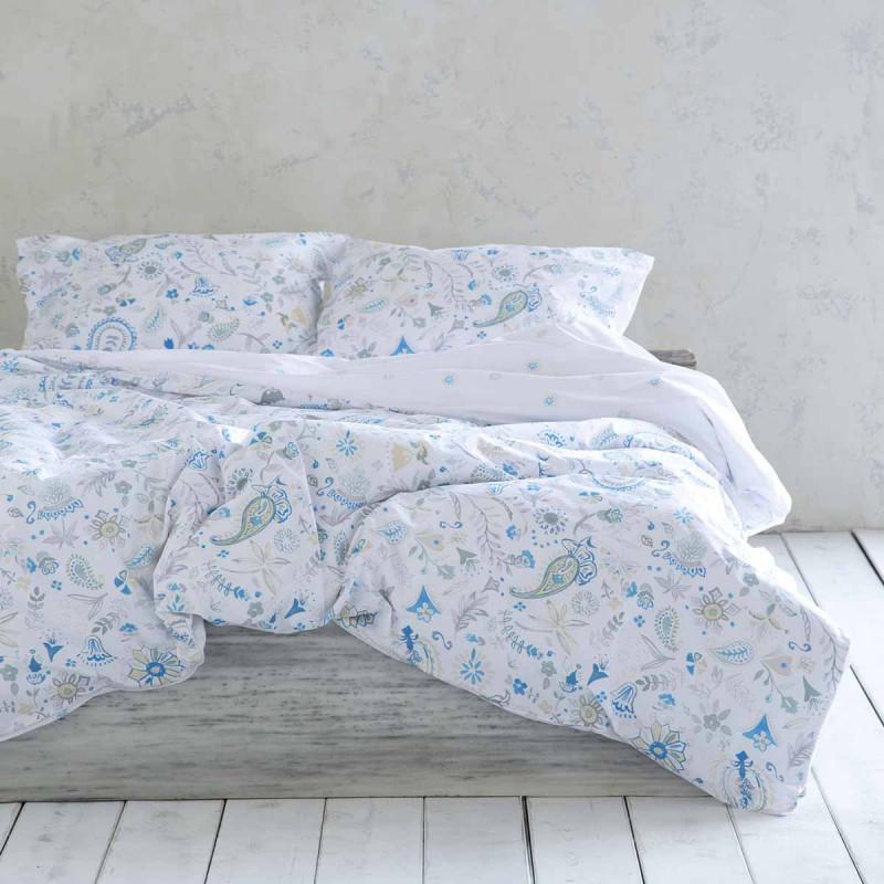 Σεντόνια Διπλά (Σετ) Nima Bed Linen Desire Blue