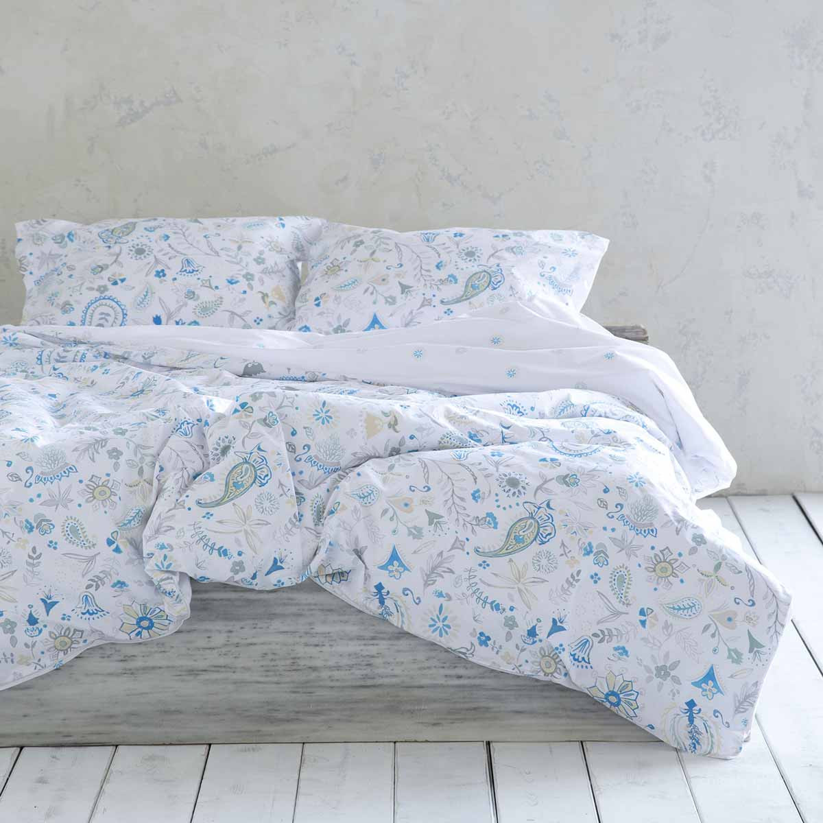 Σεντόνια Διπλά (Σετ) Nima Bed Linen Desire Blue home   κρεβατοκάμαρα   σεντόνια   σεντόνια ημίδιπλα   διπλά