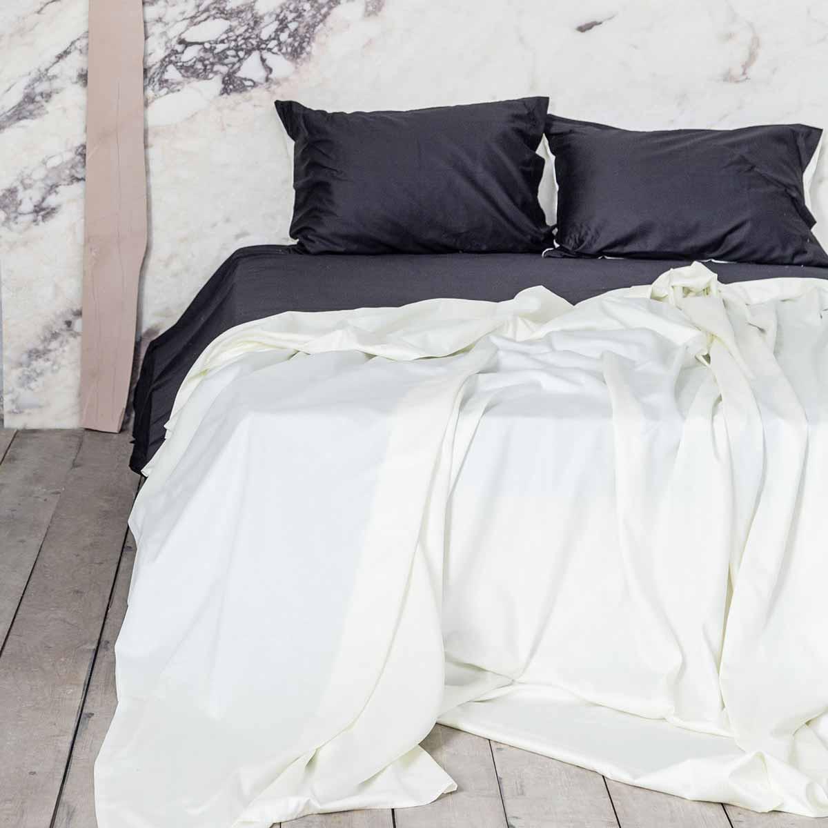 Σεντόνια Υπέρδιπλα (Σετ) Nima Elegance Ivory/Black