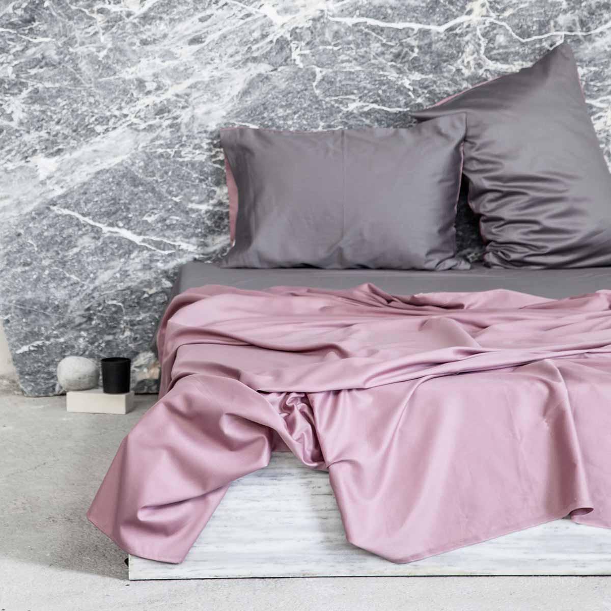 Σεντόνια Υπέρδιπλα (Σετ) Nima Elegance Dusty Pink/Deep Grey