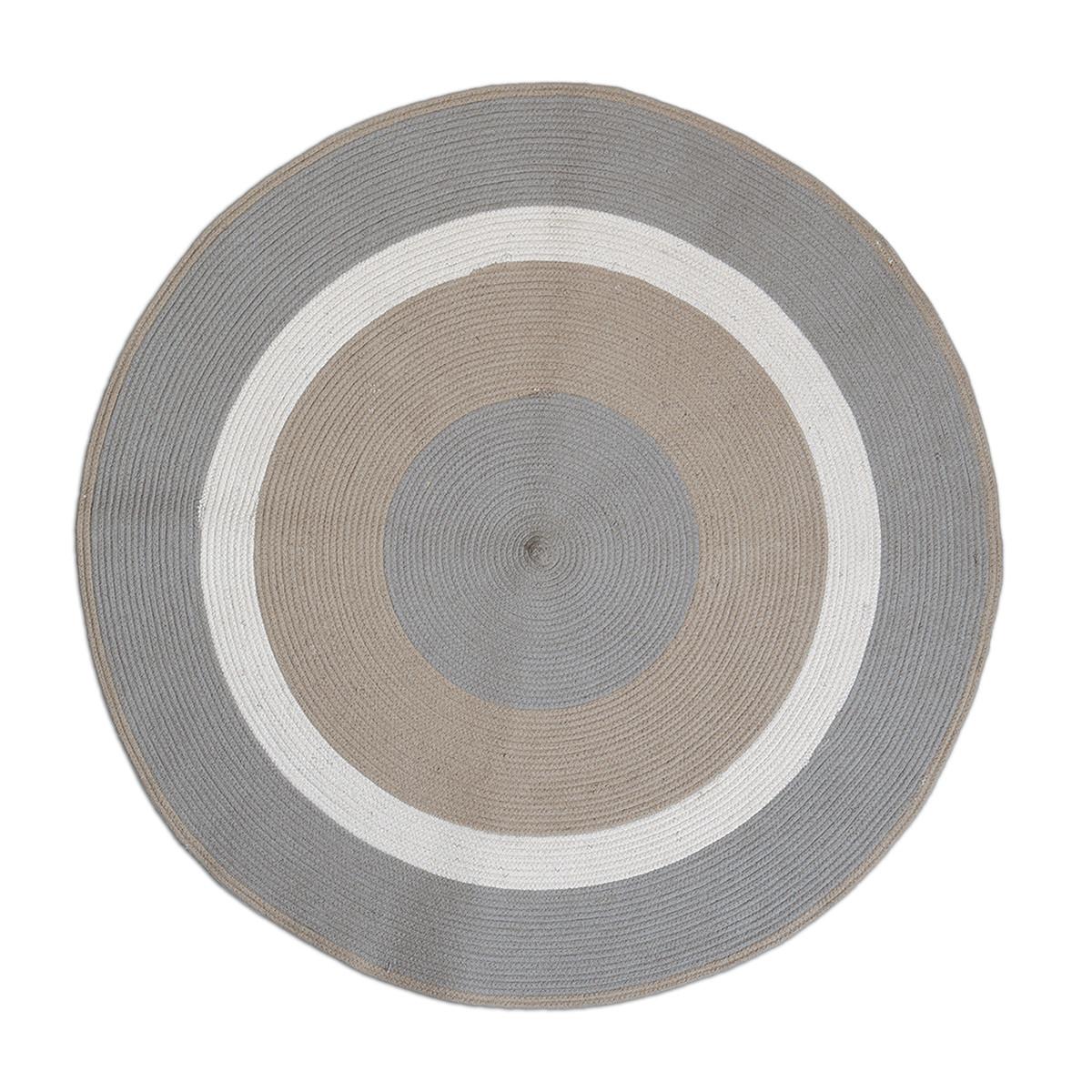 Στρογγυλό Χαλί (Φ120) Nef-Nef Vintage Collection Grey/Beige