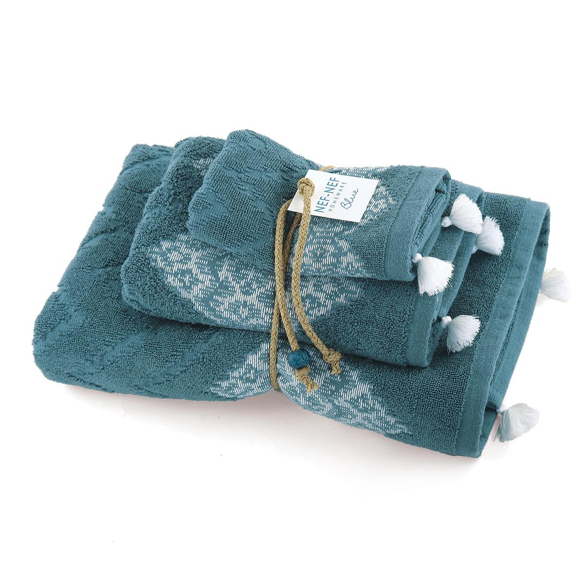Πετσέτες Μπάνιου (Σετ 3τμχ) Nef-Nef Blue Collection Strong