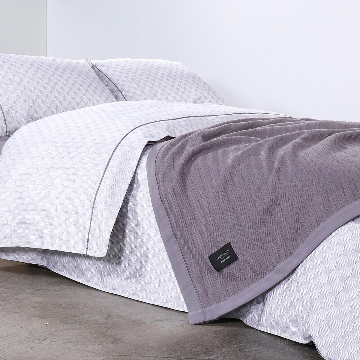 Κουβερτόριο Υπέρδιπλο Nef-Nef Elements Fust Grey home   κρεβατοκάμαρα   κουβέρτες   κουβέρτες καλοκαιρινές υπέρδιπλες