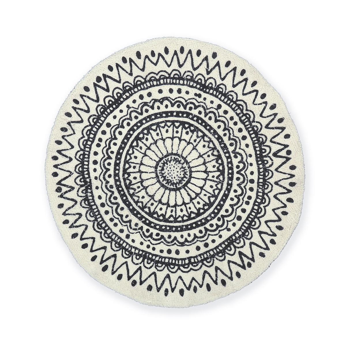 Στρογγυλό Πατάκι Μπάνιου (80×80) Nef-Nef Diego Black