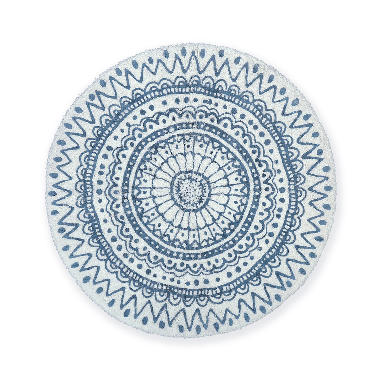 Στρογγυλό Πατάκι Μπάνιου (80×80) Nef-Nef Diego Blue