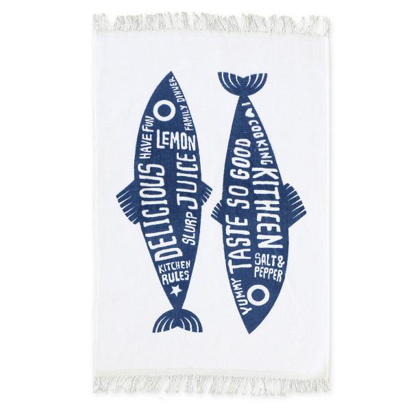 Πετσέτα Κουζίνας Nef-Nef Trendy Fish Blue