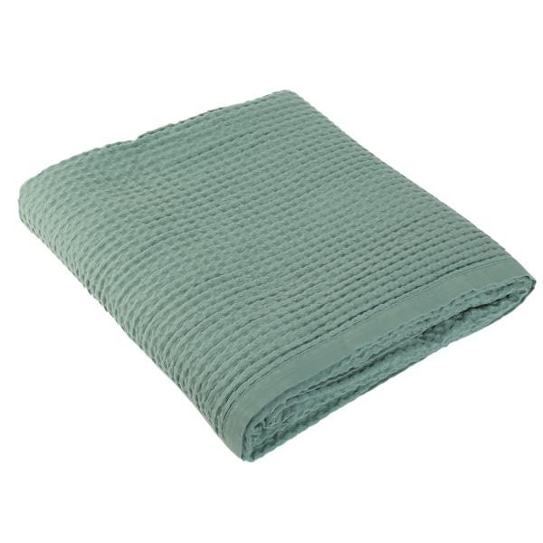 Κουβέρτα Πικέ Υπέρδιπλη Nef-Nef New Golf Dark Mint
