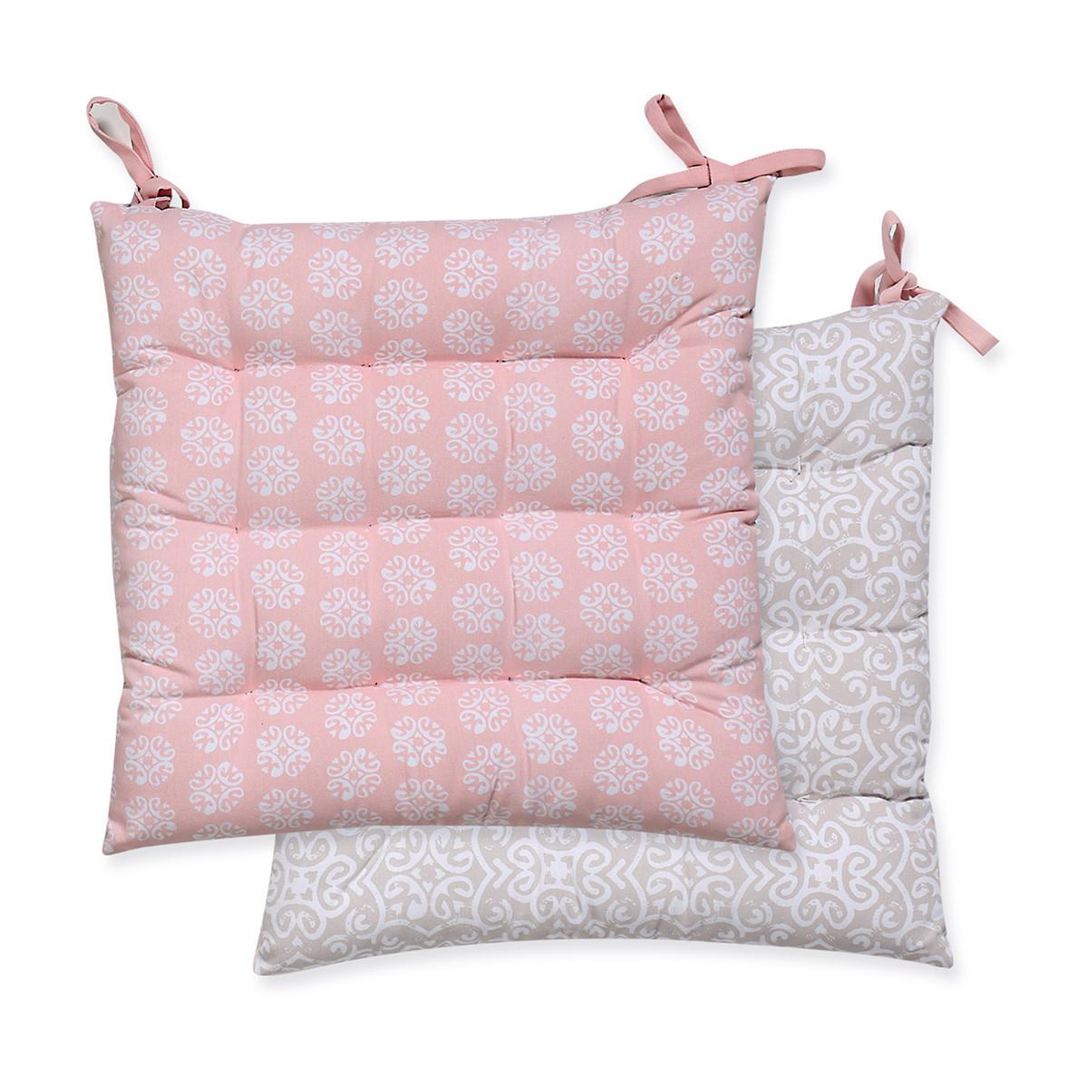 Μαξιλάρι Καρέκλας 2 Όψεων Nef-Nef Donanim Pink home   κουζίνα   τραπεζαρία   μαξιλάρια καρέκλας