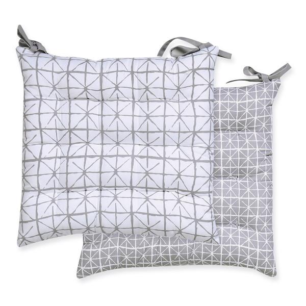 Μαξιλάρι Καρέκλας 2 Όψεων Nef-Nef Astra Grey