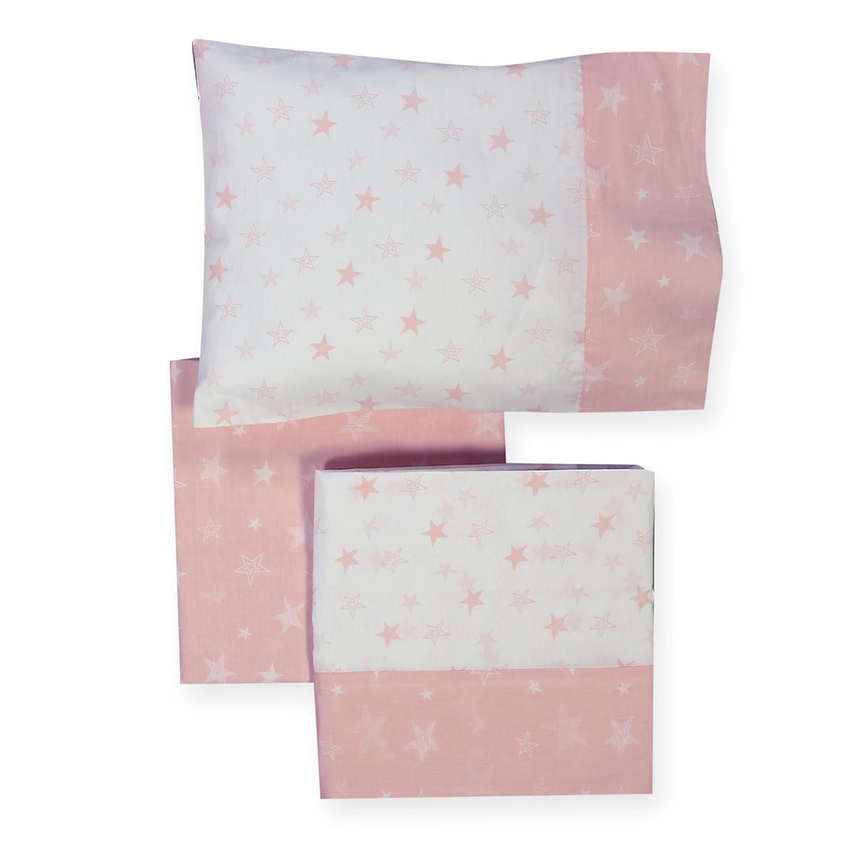 Σεντόνια Κούνιας (Σετ) Nef-Nef Moon Pink
