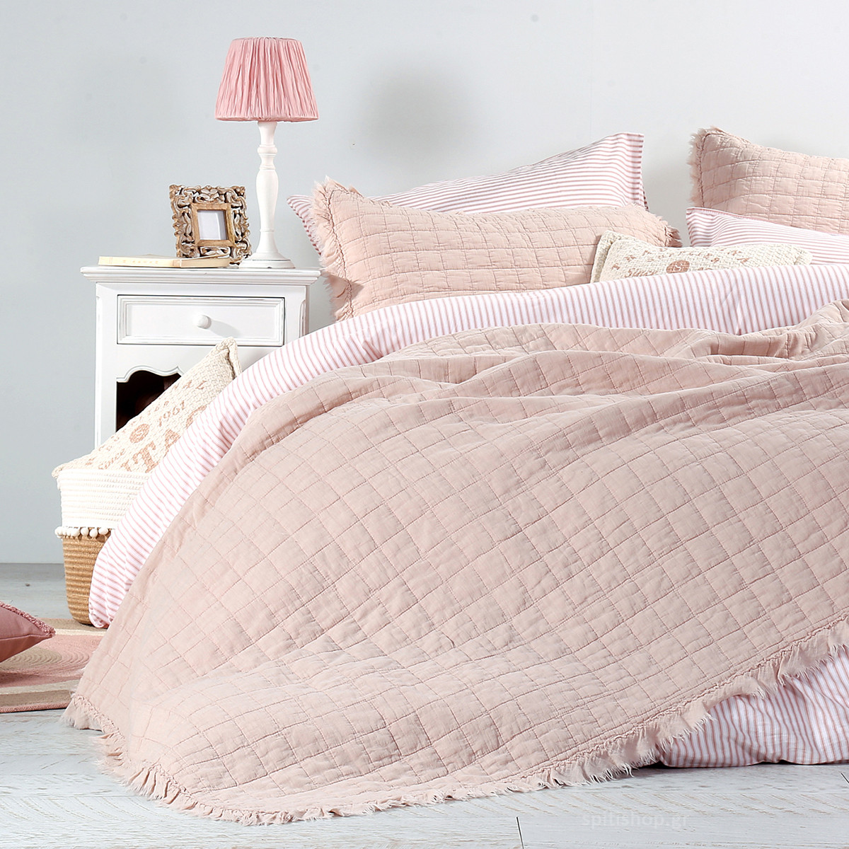 Κουβερλί Υπέρδιπλο (Σετ) Nef-Nef Vintage Collection Pink