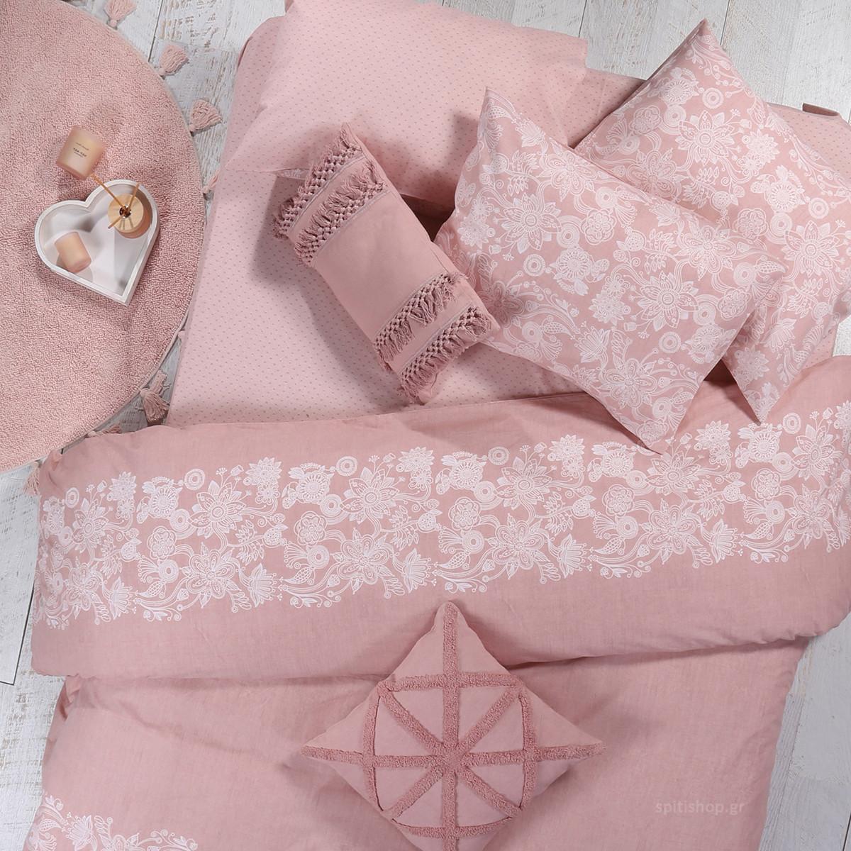 Κουβερλί Μονό Nef-Nef Smart Line Semplice Pink home   κρεβατοκάμαρα   κουβερλί   κουβερλί μονά