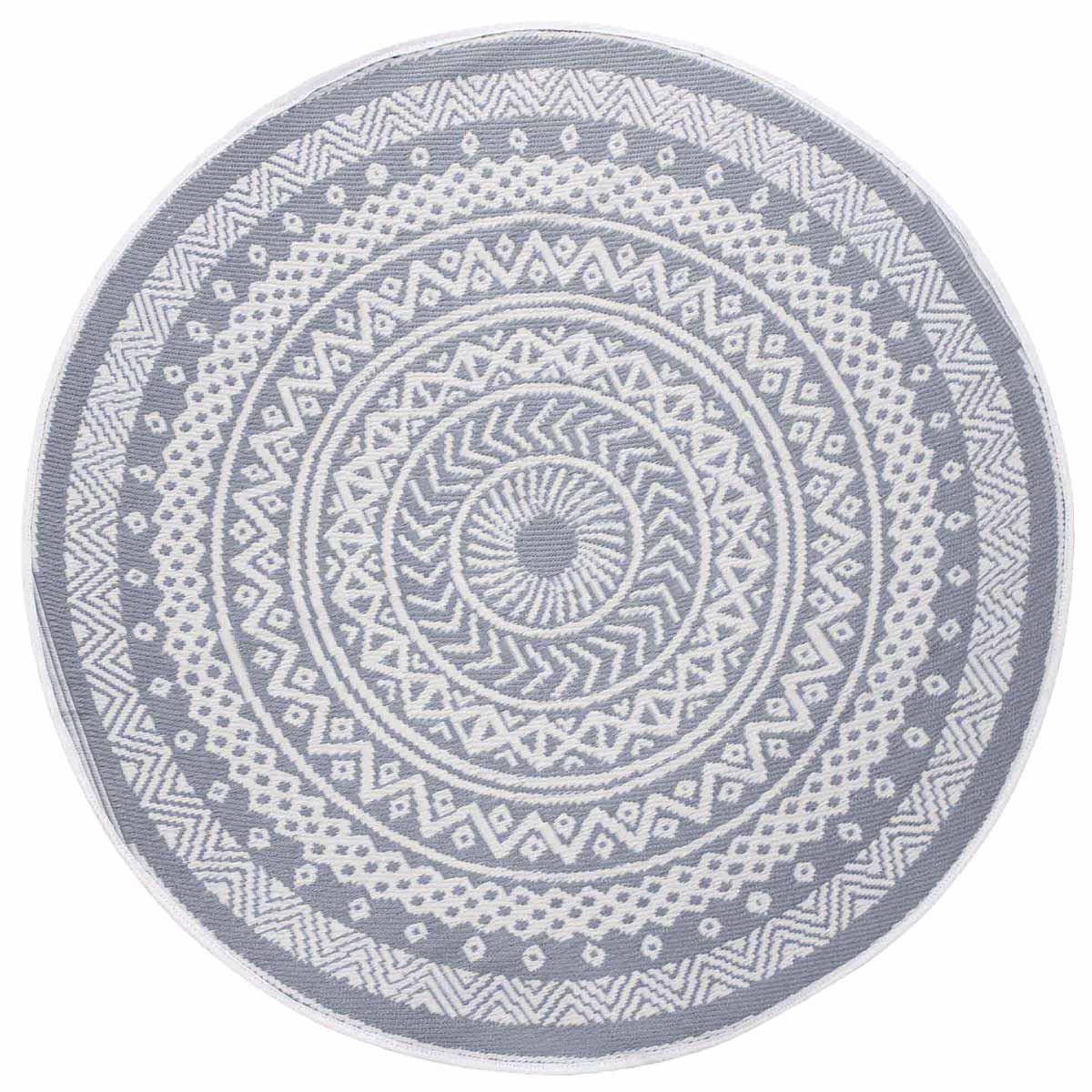 Στρογγυλό Χαλί Καλοκαιρινό (Φ150) Mandaly Gris 1740801