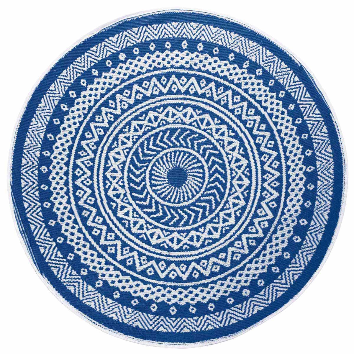 Στρογγυλό Χαλί Καλοκαιρινό (Φ150) Mandaly Bleu 1740797 home   χαλιά   χαλιά σαλονιού