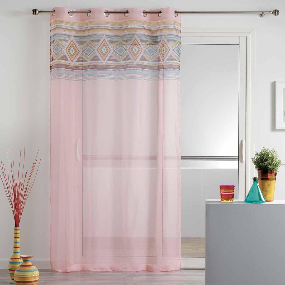 Κουρτίνα (140×240) Με Τρουκς L-C Luisa Voilage Rose 1626040